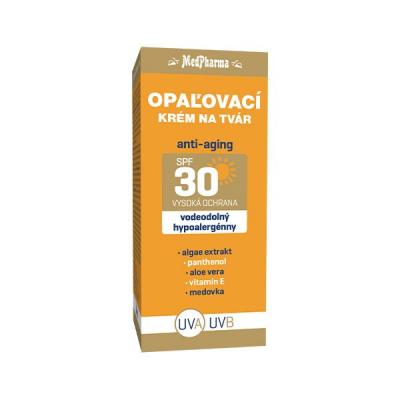 Opaľovací krém na tvár anti-aging SPF30, 1 x 50 ml