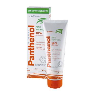 Panthenol 10% Sensitive telové mlieko,  200 ml + 30 ml zdarma