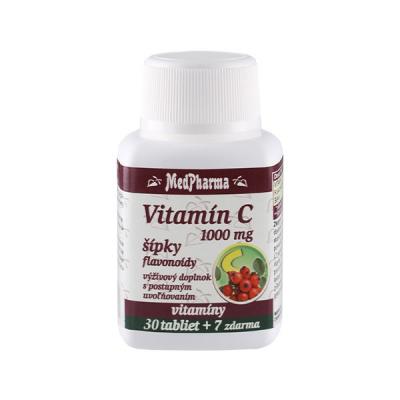 Vitamín C 1000 mg so šípkami, predĺžený účinok, 37 tbl
