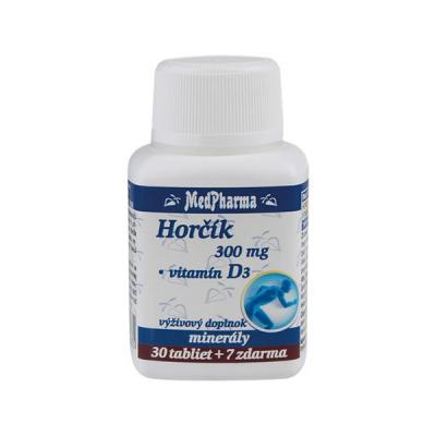 Horčík 300 mg + Vitamín D,  37 tbl