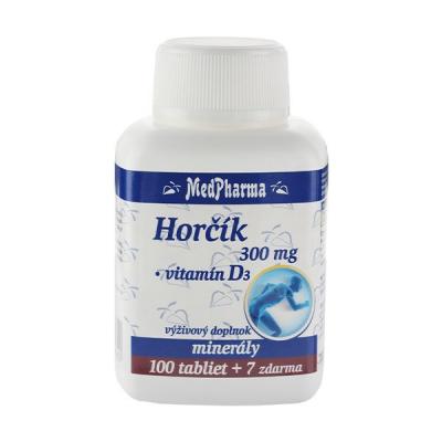 Horčík 300 mg + Vitamín D,  107 tbl