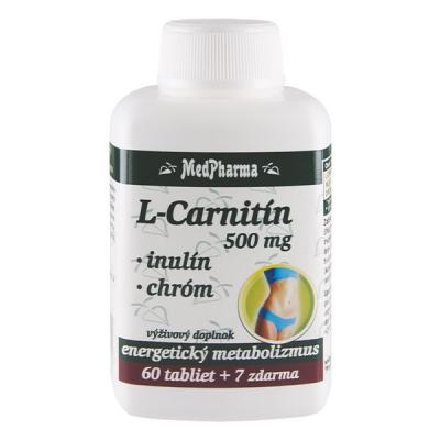 L-carnitín  500 mg + Inulín + Chróm, 67 tbl