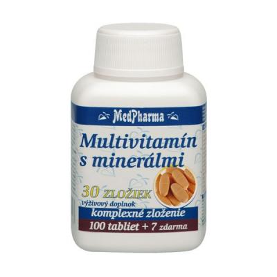 Multivitamín s minerálmi 30 zložiek, 107 tbl