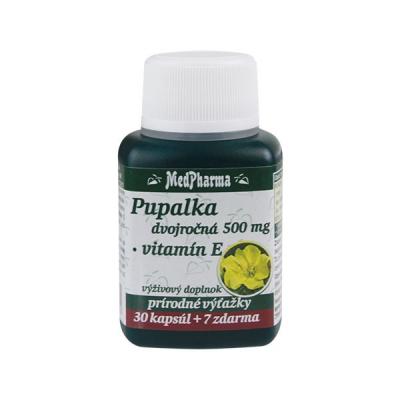 Pupalka dvojročná 500 mg + Vitamín E, 37 kpsl