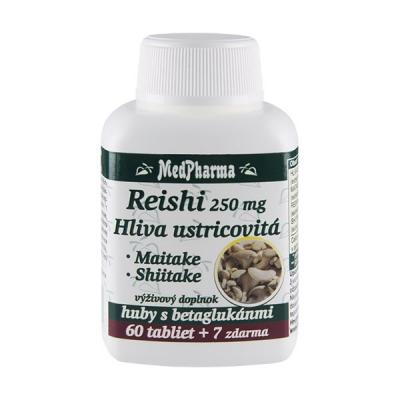 Reishi 250 mg + hliva ustricovitá, 67 tbl