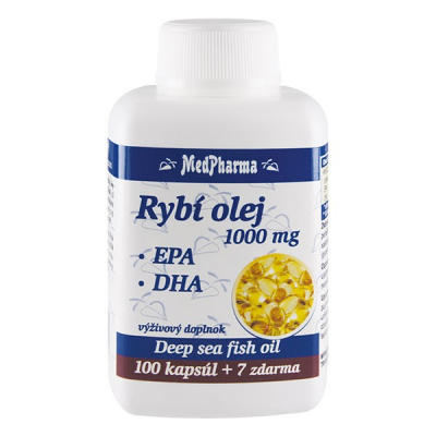 Rybí olej 1000 mg - EPA + DHA, 107 kpsl