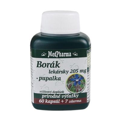 Borák lekársky 205 mg + pupalka, 67 kpsl