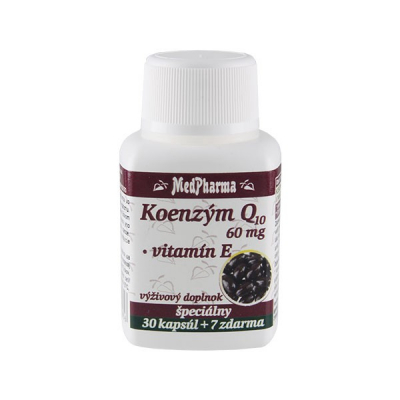 Koenzým Q10 60 mg + vitamín E,  37 kpsl