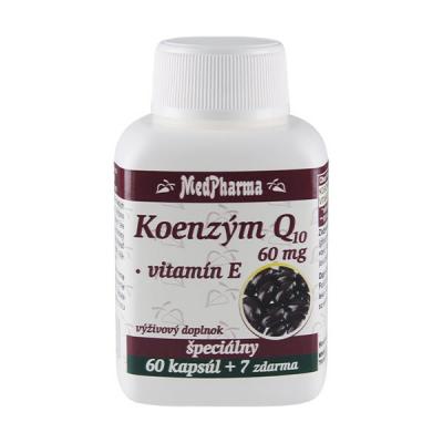 Koenzým Q10 60 mg + vitamín E, 67 kpsl