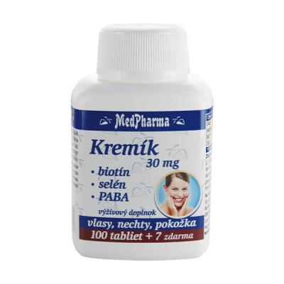 Kremík 30 mg + Biotín + Selén + PABA, 107 tbl