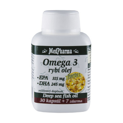 Omega 3 rybí olej Forte, 37 kpsl