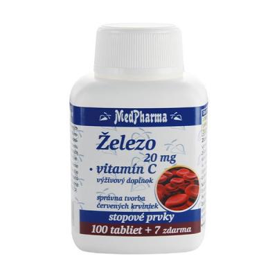 Železo 20 mg + Vitamín C, 107 tbl