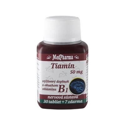 Tiamín (vitamín B1) 50 mg, 37 tbl