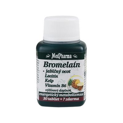 Bromelaín 300 mg + Jablčný ocot + Lecitín + Kelp + B6, 37 tbl