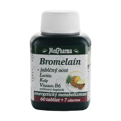 Bromelaín 300 mg + Jablčný ocot + Lecitín + Kelp + B6, 67 tbl