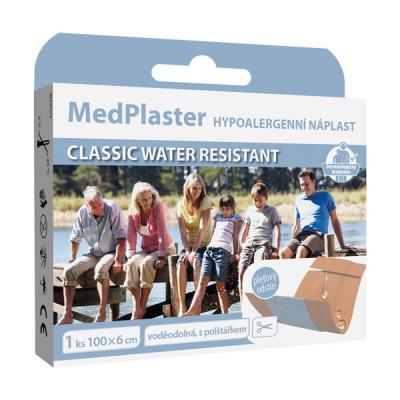MedPlaster Náplasť CLASSIC WATER RESISTANT, 100 x 6 cm