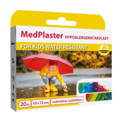MedPlaster Náplasť FOR KIDS WATER RESISTANT, 20 ks