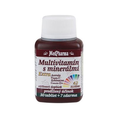 Multivitamín s minerálmi 42 zložiek + extra C, Q10, 37 tbl