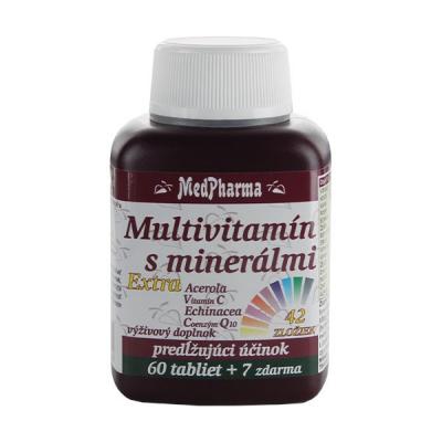 Multivitamín s minerálmi 42 zložiek + extra C, Q10, 67 tbl