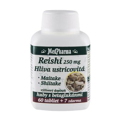Reishi 250 mg + hliva ustricovitá, 67 tbl - Výpredaj
