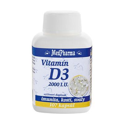 Vitamín D3 2000 I.U., 107 kpsl.