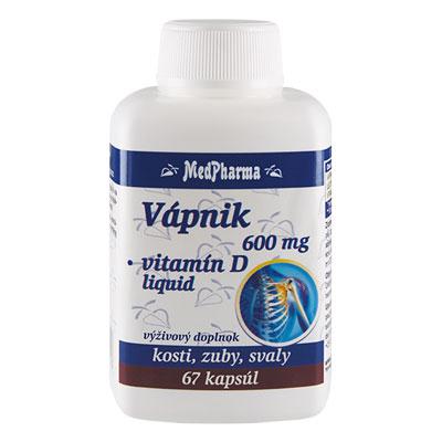 Vápnik 600 mg + Vitamín D – liquid, 67 kpsl