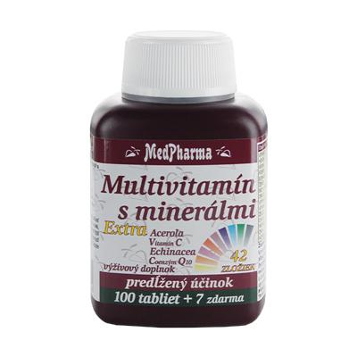 Multivitamín s minerálmi 42 zložiek + extra C, Q10, 107 tbl