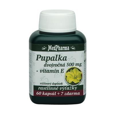 Pupalka dvojročná 500 mg + Vitamín E, 67 kpsl