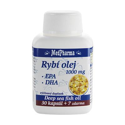 Rybí olej 1000 mg - EPA + DHA, 37 kpsl